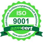 Zertifikatsurkunde 9001 der Firma Schade Kunststoff-Verpackungen